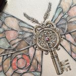 Watercolor Illustrations by Steeven Salvat Cloak Natural Specimens with Elaborate Metallic Motifs